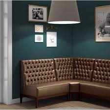 Banquette Dining Furniture Dining Room Green Leather Banquette Seating With Round Dining