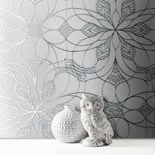 muriva eve floral grey silver metallic wallpaper 701471