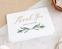 where to buy thank you cards wedding thank you cards etsy