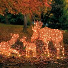outdoor lighted deer moose family pre lit yard decoration lawn
