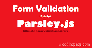 parsley pattern js quick easy form validation exle with parsley js coding cage