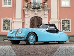image jaguar 1948 50 xk120 alloy roadster retro light blue cars