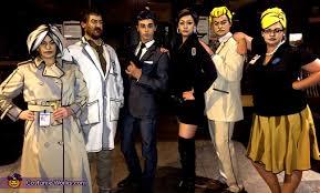Spy Halloween Costumes Archer Cast Group Halloween Costume