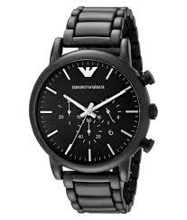 20 Classic Black And White Emporio Armani Ar1895 Classic Black Dial Brushed Black Men U0027s Watch
