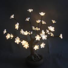 hi line gift ltd bonsai tree with flower and 36 led lights