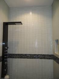 white glass 1x4 subway tile subway tile showers tile showers