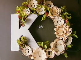 flower wreath paper flower wreath cricut tutorial kleinworth co