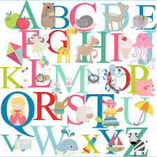 bright alphabet wall stickers by littleprints notonthehighstreet com bright alphabet wall stickers