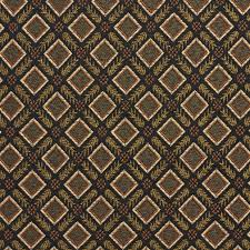 Diamond Upholstery E636 Diamond Black Gold Green And Orange Damask Upholstery