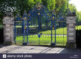 ornamental iron gates stock photos ornamental iron gates stock