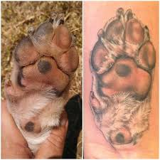 best 25 paw print tattoos ideas on pinterest dog tattoos dog