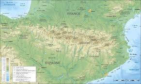 Maps Spain by Pyrenees Topographic Map Fr U2022 Mapsof Net