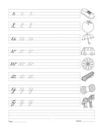 cursive writing book 6 printable coloring worksheet