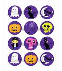 halloween edible photo cupcake or cookie toppers 12