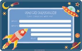 Craft Invitation Card Print Cut Paste Craft Birthday