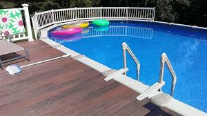 pool cheerful picture of backyard decoration with curved white