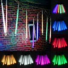 outdoor string lights rain 10 tube 30cm led meteor shower rain fall outdoor christmas xmas