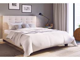 double size fabric bed frame henrik collection beige double