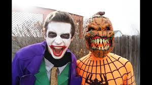 bear halloween mask halloween spiderman vs giant teddy bear u0026 spiderman vs joker vs