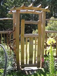 classic garden arbor with gate in impressive garden arbor with