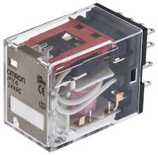 my4 24ac s omron 4pdt plug in non latching relay 24v ac coil