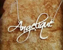 real gold nameplate necklace 14k gold name necklace order any name style