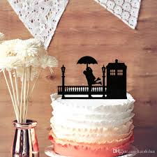 Candy Apple Supplies Wholesale Romantic Wedding Anniversary Cake Toppers Tardis Rainy Day Hugs