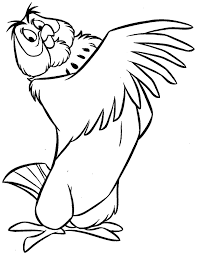 disney owl coloring pages for kids gnm printable winnie the
