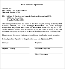 hold harmless agreement release and hold harmless agreement free