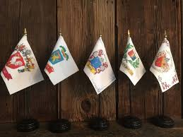 Family Crest Flags Custom Family Crest Coat Of Arms Mini Desk Flags 4 X