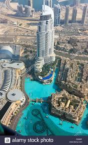 view from burj al khalifa onto the souk al bahar and the armani