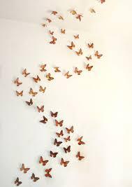 wall art ideas design blue turquiose butterflies wall art