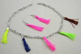 mothers day jewelry personalized personalized mothers day jewelry colorful tassel necklace earring