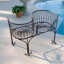 Garden Loveseat Grand Peacock Metal Garden Loveseat Bench Fu63629 Design Toscano