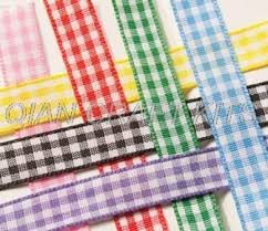 gingham ribbon 120 yards 10mm wide gingham ribbon check ribbon by the yard