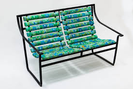 Vintage Homecrest Patio Furniture - tubular steel patio settee or bench by samsonite for sale at 1stdibs