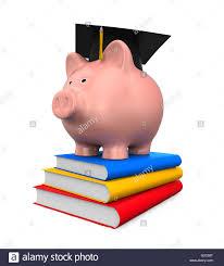 graduation piggy bank piggy bank with graduation cap and books stock photo 104759924