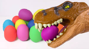 dinosaur easter eggs dino dinosaur play doh surprises easter eggs toys