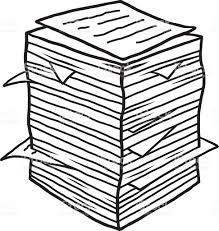 imagenes de archivo libres de derechos pila de papeles utilizado arte vectorial de stock y más imágenes