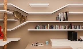 new wall mounted furniture suits people and their cats inhabitat