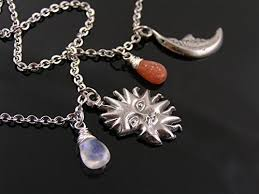 amazon com matching sun and moon necklaces with sunstone