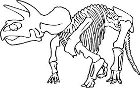 realistic dinosaur bones coloring pages