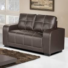 Henley Dark Brown Leather Sofa Collection With Contrast Stitching - Henley leather sofa