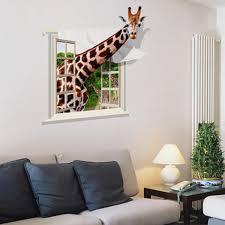 home decor giraffe 3d lovely giraffe wall sticker decal living room home decor