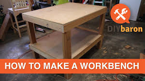 how to build a workbench and a shop garage tour youtube