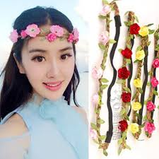 bando headbands boho style hair accessories headbands elastic flowers crown