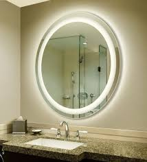 Backlit Bathroom Mirror by Backlit Mirror Designer Bathroom Mirrors With Lights Home