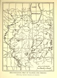 Map Of Indiana And Illinois by Archaeological Maps