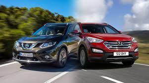 nissan x trail vs hyundai santa fe new cars head to head