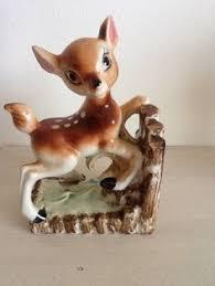 vintage 50 60s retro kitsch deer fawn ornament ceramic japan
